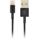 Kabel, Lightning-USB, 3m sort